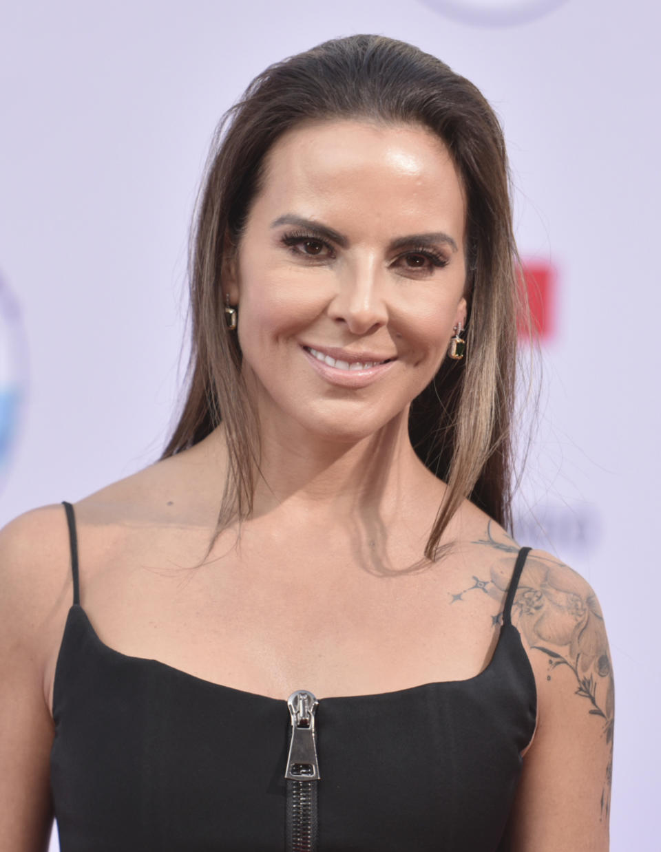 Kate del Castillo arrives at the Latin American Music Awards on Thursday, Oct. 17, 2019, at the Dolby Theatre in Los Angeles. (Photo by Richard Shotwell/Invision/AP)