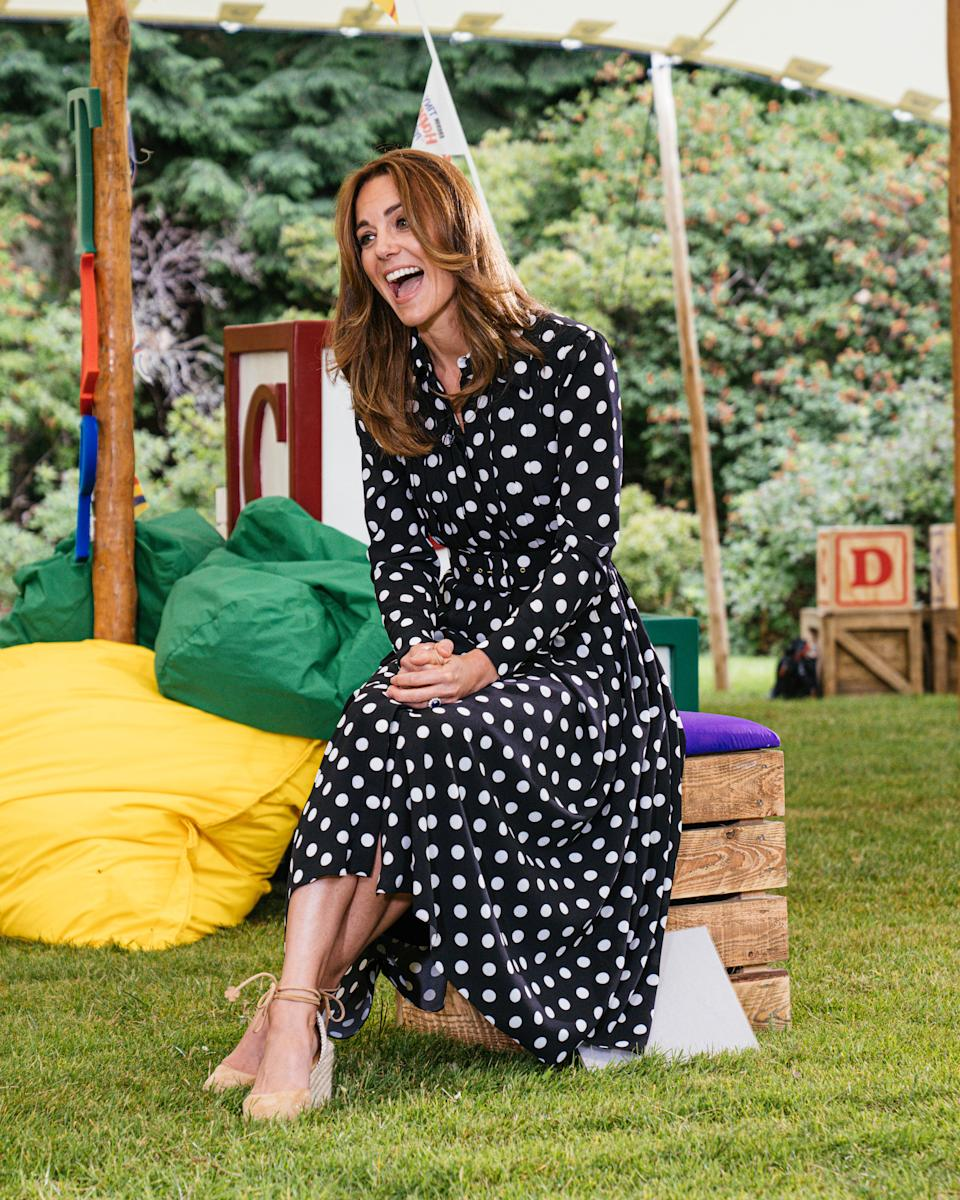 EMBARGOED TO 2230 MONDAY JULY 13 Undated handout photo issued by Kensington Palace of the Duchess of Cambridge, as she marked the launch of a new BBC education resource called Tiny Happy People.