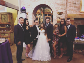 """<p>The <em>Jersey Shore</em> crew reunited again in the Garden State, this time for castmate Deena Cortese's nuptials to Christopher Buckner. """"Crew back together for Deena's Wedding!"""" Snooki captioned the group shot, which included Jenni """"JWoww"""" Farley, Vinny Guadagnino, Paul """"Pauly D"""" DelVecchio, Mike """"the Situation"""" Sorrentino, and Sammi Giancola. Noticeably missing was Sam's ex, Ronnie Ortiz-Magro, who was said to be out of town. (Photo: <a href=""""https://www.instagram.com/p/Ba0DN5Zl5r0/?taken-by=snooki"""" rel=""""nofollow noopener"""" target=""""_blank"""" data-ylk=""""slk:Snooki via Instagram"""" class=""""link rapid-noclick-resp"""">Snooki via Instagram</a>) </p>"""