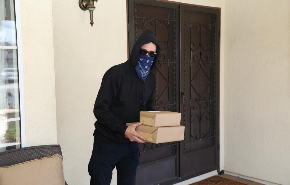 The collective damage caused by porch pirate thieves amounts to $5.4 billion in package theft over the past year in the U.S., according to a new online survey. (Photo: Getty)