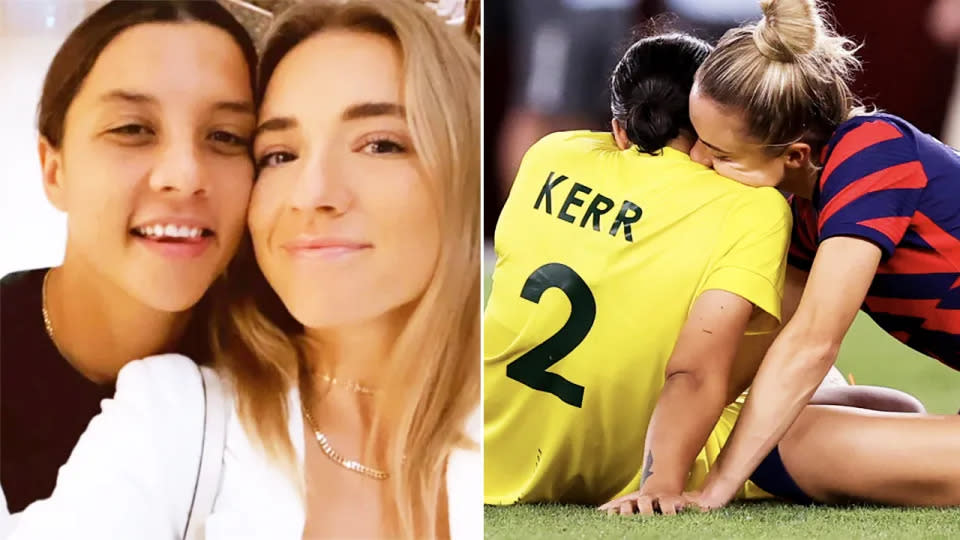 Pictured here, Sam Kerr and Kristie Mewis together after confirming their relationship.