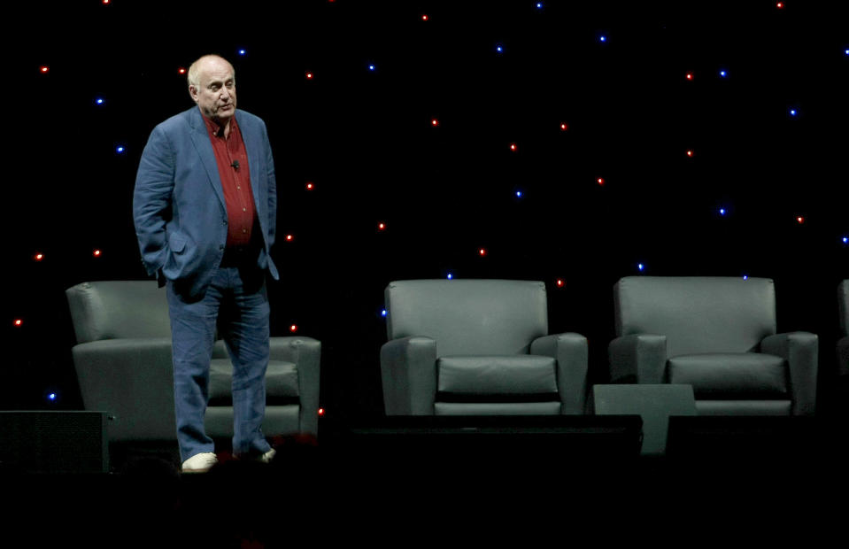 """ANAHEIM, CALIFORNIA - AUGUST 23: Jeph Loeb speak at Marvel's """"Agents of S.H.I.E.L.D."""" panel durings the 2019 D23 Expo at Anaheim Convention Center on August 23, 2019 in Anaheim, California. (Photo by Paul Butterfield/Getty Images)"""