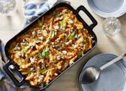 """<p><strong>Recipe: <a href=""""https://www.southernliving.com/recipes/buffalo-chicken-casserole"""" rel=""""nofollow noopener"""" target=""""_blank"""" data-ylk=""""slk:Buffalo Chicken Casserole"""" class=""""link rapid-noclick-resp"""">Buffalo Chicken Casserole</a></strong></p> <p>Buffalo chicken wings (and the gameday favorite dip) get a suppertime makeover with this comfort-food casserole. Bonus points: No messy fingers!</p>"""