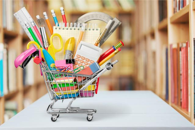 Heading to the store with a dizzying list of school supplies is worth laughing over, according to one mom's viral video. (Photo: Getty Images)