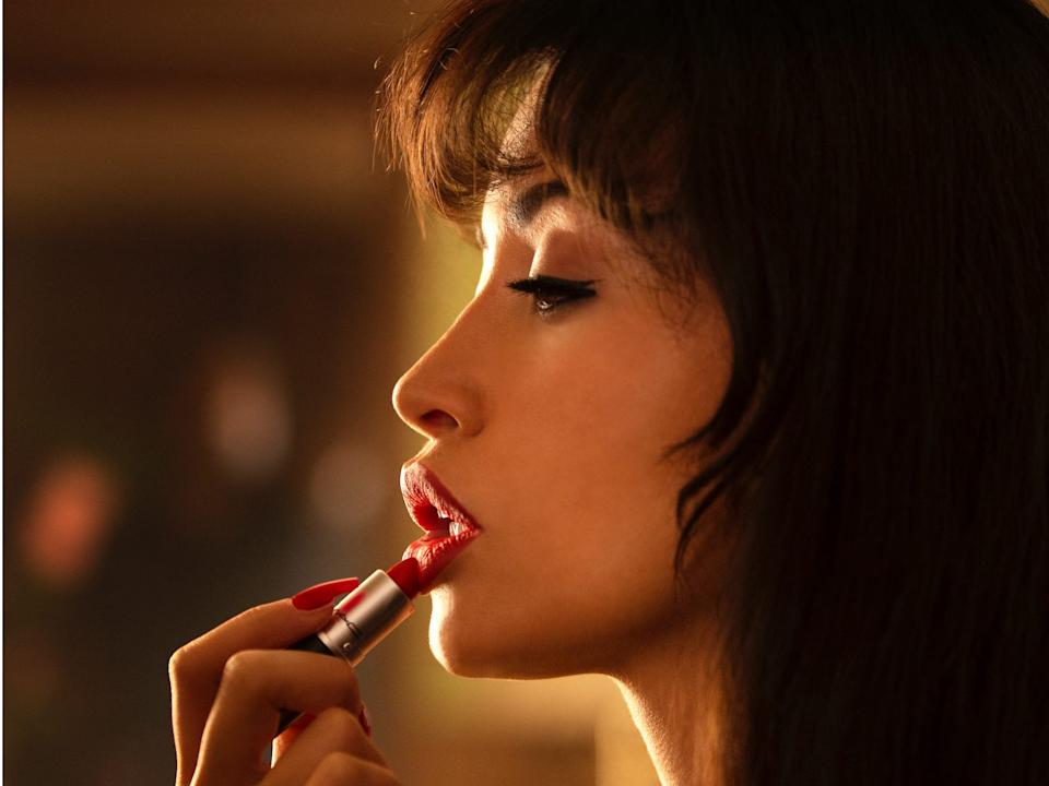 The first look at Christian Serratos in the role of Selena.