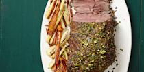 """<p>This slow-roasted lamb is sure to delight at dinnertime.</p><p>Get the <a href=""""https://www.delish.com/uk/cooking/recipes/a30776770/slow-roasted-lamb-with-pistachio-gremolata-recipe/"""" rel=""""nofollow noopener"""" target=""""_blank"""" data-ylk=""""slk:Slow-Roasted Lamb With Pistachio Gremolata"""" class=""""link rapid-noclick-resp"""">Slow-Roasted Lamb With Pistachio Gremolata</a> recipe.</p>"""