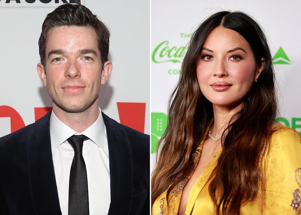 """<p>On May 10, <a href=""""https://www.popsugar.com/celebrity/john-mulaney-and-annamarie-tendler-break-up-48314497"""" class=""""link rapid-noclick-resp"""" rel=""""nofollow noopener"""" target=""""_blank"""" data-ylk=""""slk:John and wife Annamarie Tendler announced their separation"""">John and wife Annamarie Tendler announced their separation</a> after nearly seven years of marriage. """"John will not have any further comment as he continues to focus on his recovery and getting back to work,"""" a rep for the comedian said in a statement. Days later, on May 13, it was reported by <strong>People</strong> that John and Olivia <a href=""""https://www.popsugar.com/celebrity/john-mulaney-olivia-munn-relationship-details-48322285"""" class=""""link rapid-noclick-resp"""" rel=""""nofollow noopener"""" target=""""_blank"""" data-ylk=""""slk:had started dating"""">had started dating</a> after they """"<a href=""""https://people.com/tv/john-mulaney-olivia-munn-dating/"""" class=""""link rapid-noclick-resp"""" rel=""""nofollow noopener"""" target=""""_blank"""" data-ylk=""""slk:met at church in Los Angeles"""">met at church in Los Angeles</a>."""" The pair have been friends on social media for years, with the actress tweeting her support for the comedian upon his entrance into rehab back in December 2020 """"<a href=""""https://twitter.com/oliviamunn/status/1341235053498515456?s=20"""" class=""""link rapid-noclick-resp"""" rel=""""nofollow noopener"""" target=""""_blank"""" data-ylk=""""slk:Sending SO MUCH love and support to John Mulaney"""">Sending SO MUCH love and support to John Mulaney</a>,"""" she wrote. """"You got this."""" <a href=""""https://www.popsugar.com/celebrity/who-has-olivia-munn-dated-48324597"""" class=""""link rapid-noclick-resp"""" rel=""""nofollow noopener"""" target=""""_blank"""" data-ylk=""""slk:Olivia previously dated Aaron Rodgers"""">Olivia previously dated Aaron Rodgers</a>, another member of this list, from 2014 to 2017.</p>"""