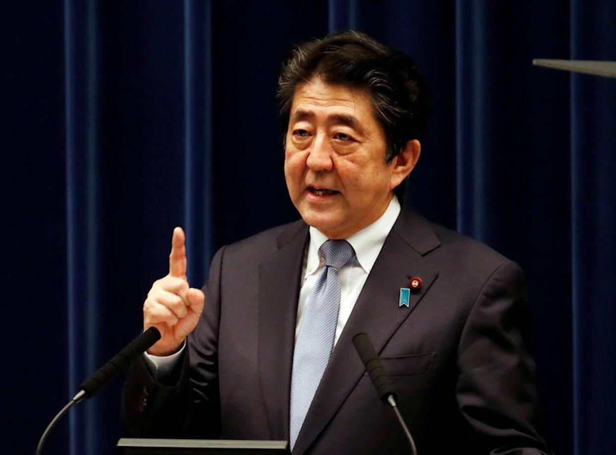 Japan's prime minister Shinzo Abe – the country's business federation has raised concerns over Brexit uncertainty. Photo: Kim Kyung-Hoon/Reuters
