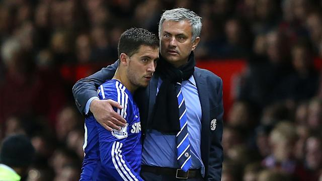 Chelsea's Jose Mourinho and Eden Hazard
