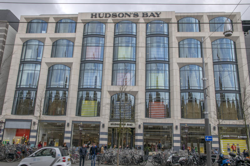 Front View Hudson's Bay At The Rokin Amsterdam The Netherlands 2019