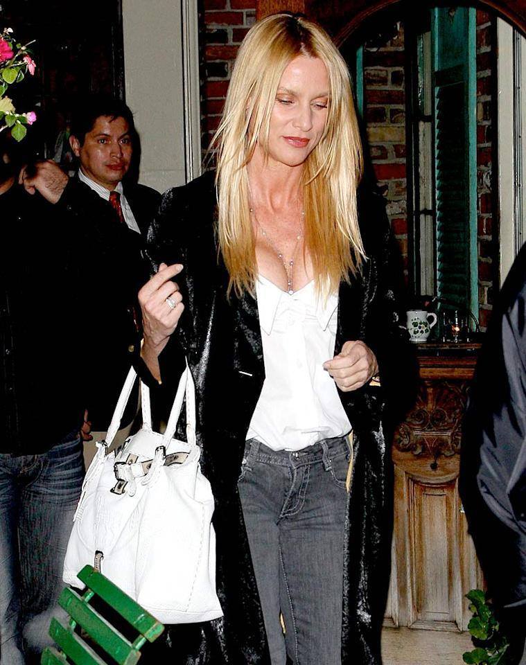 """Nicollette Sheridan will definitely leave """"Desperate Housewives"""" after this season, producers confirmed. The actress dined with rumored boyfriend David Spade at The Ivy Thursday night. <a href=""""http://www.x17online.com"""" target=""""new"""">X17 Online</a> - February 12, 2009"""