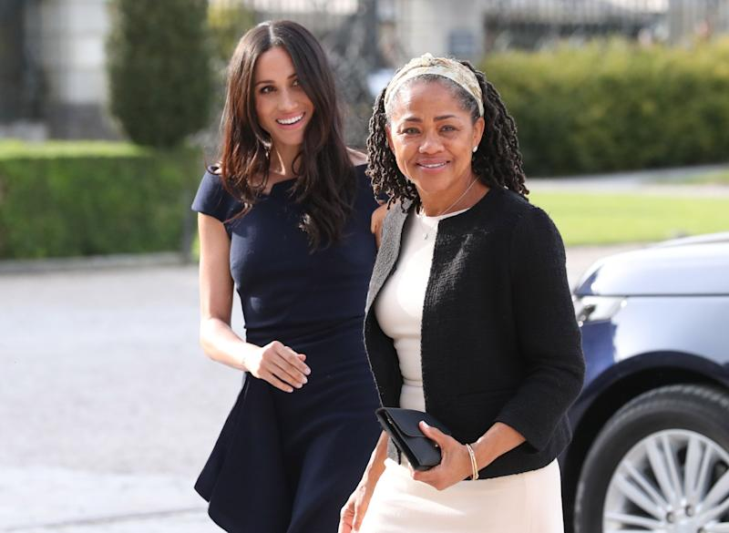 Meghan and her mother Doria on the eve of her wedding last May [Photo: PA]
