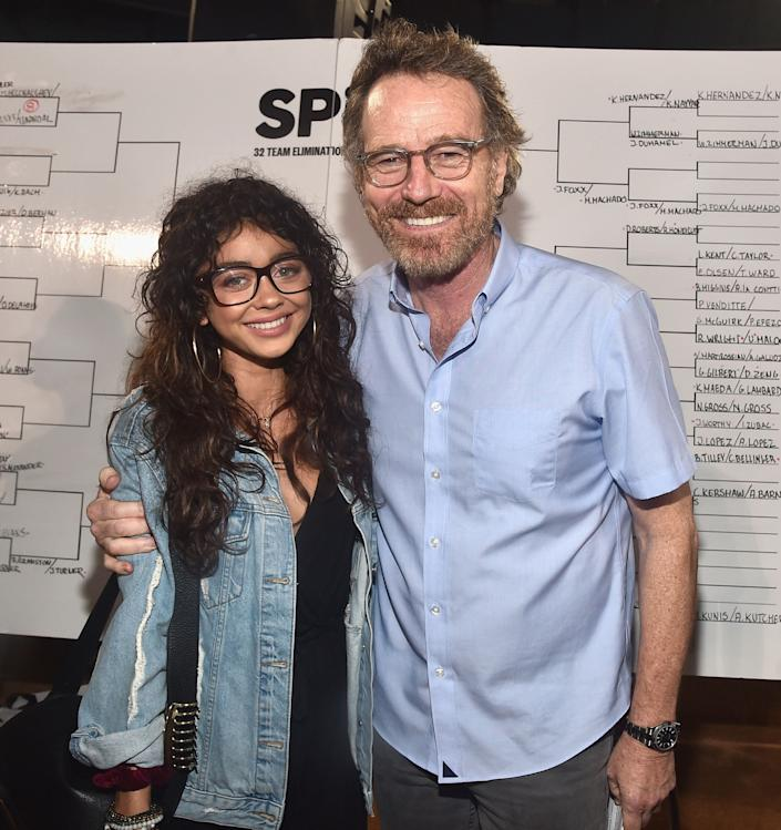 LOS ANGELES, CA - AUGUST 23: (L-R) Sarah Hyland and Bryan Cranston attend Clayton Kershaw's 6th Annual Ping Pong 4 Purpose on August 23, 2018 in Los Angeles, California. (Photo by Alberto E. Rodriguez/Getty Images for Kershaw's Challenge )