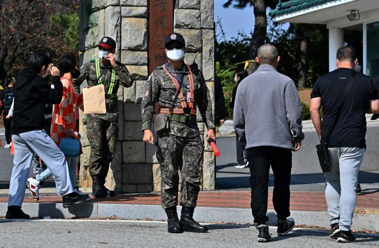 South Korea remains technically at war with the North and maintains a compulsory conscription system to defend itself against Pyongyang's 1.2 million-strong army