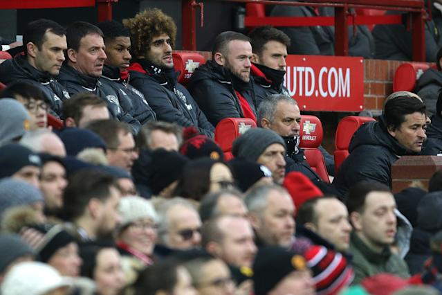 <p>Manchester United's bench was full of big names</p>