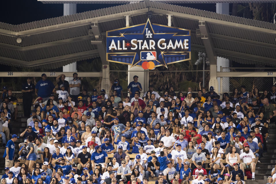 LOS ANGELES, CA - JULY 23: The logo of 2020 Major League Baseball All-Star Game was revealed on July 23, 2019 at Dodger Stadium in Los Angeles, CA. (Photo by Kyusung Gong/Icon Sportswire via Getty Images)