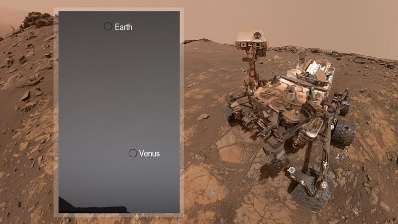 The Curiosity Rover wished Starr a happy birthday from Mars (NASA)