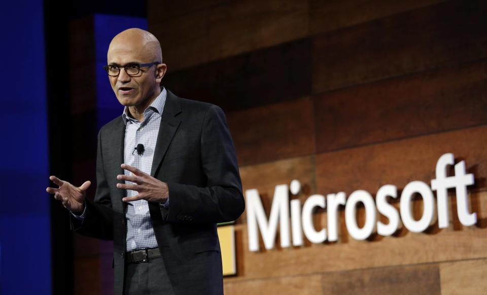 Microsoft CEO Satya Nadella. (AP Photo/Elaine Thompson, File)