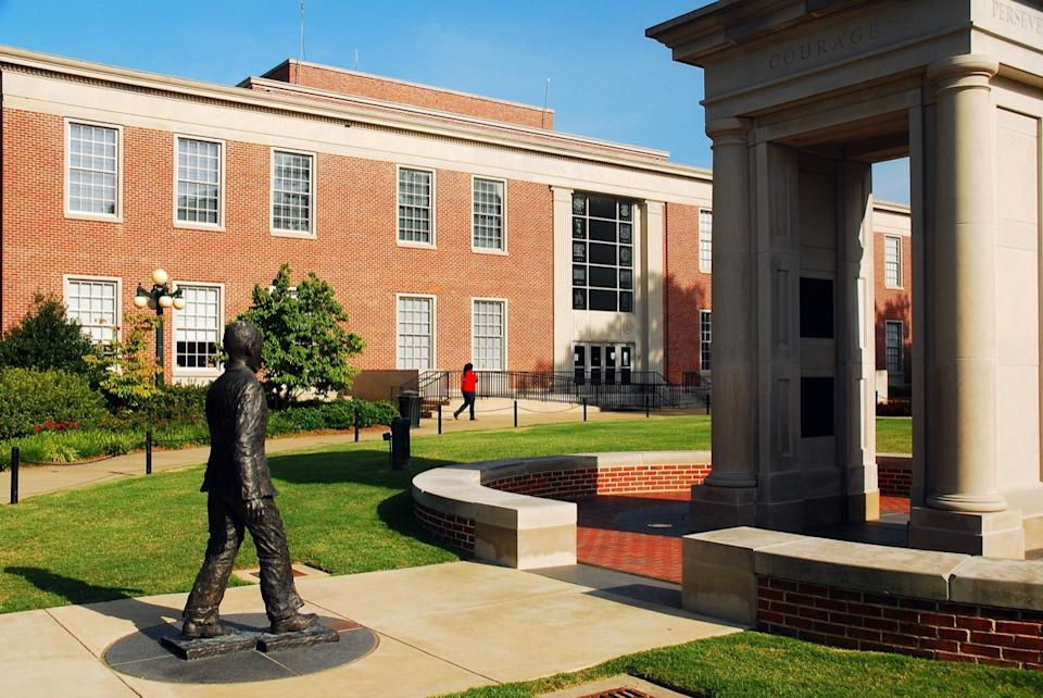University of Mississippi, stands in Oxford, Mississippi