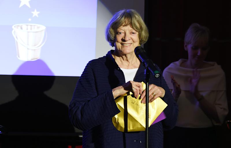 Dame Maggie Smith presents an award at the Acting For Others Presidential Awards at The Crazy Coqs on May 12, 2017 in London, England. (Photo by David M Benett/Dave Benett/Getty Images)