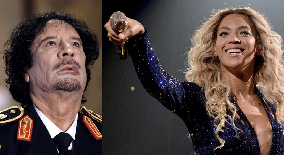 Beyonce once played a private gig for the family Colonel Gaddafi (AP)