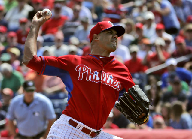 Miguel Alfredo González made six appearances with the Phillies. (AP Photo)