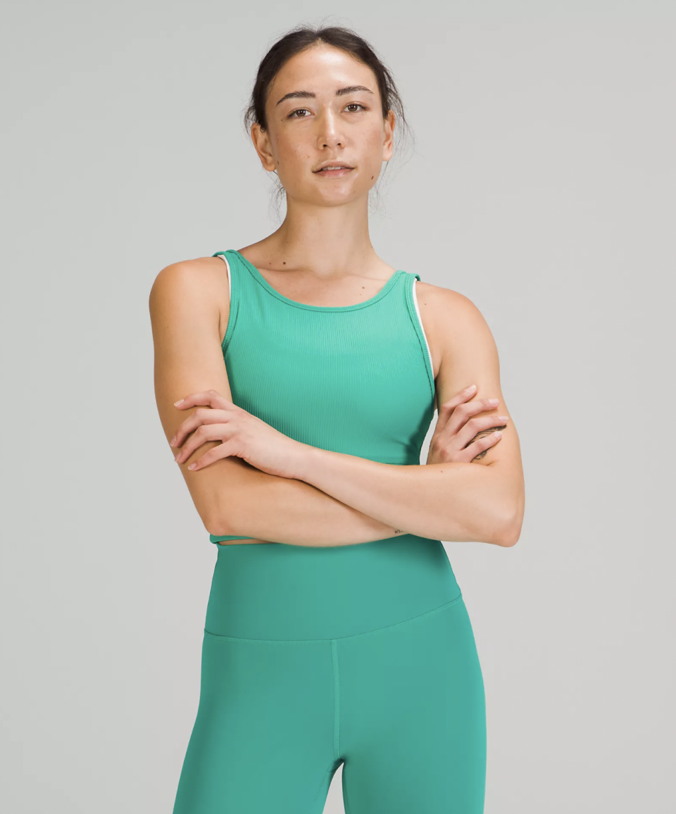 Power Pivot Tank Top is available through Lululemon's We Made Too Much section. (Photo via Lululemon)