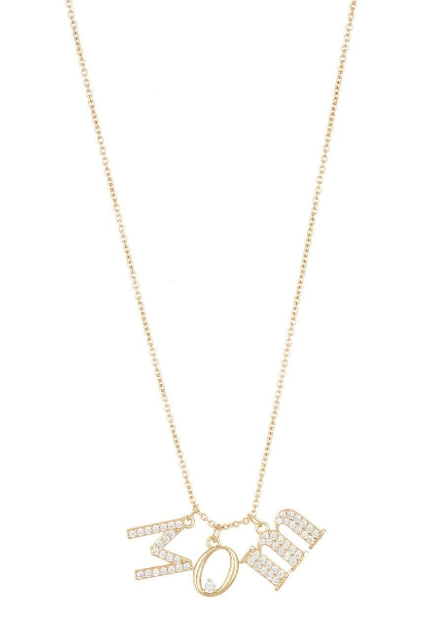 "<br><br><strong>Nadri</strong> Gold Plated Mom CZ Charm Necklace, $, available at <a href=""https://go.skimresources.com/?id=30283X879131&url=https%3A%2F%2Fwww.nordstromrack.com%2Fshop%2Fproduct%2F3182610%2Fnadri-gold-plated-mom-cz-charm-necklace%3Fcolor%3DGOLD"" rel=""nofollow noopener"" target=""_blank"" data-ylk=""slk:Nordstrom Rack"" class=""link rapid-noclick-resp"">Nordstrom Rack</a>"