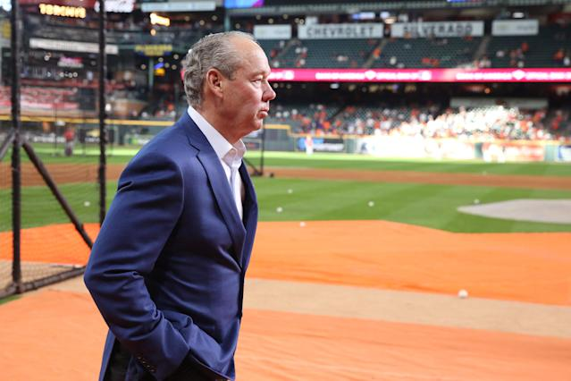 Astros owner Jim Crane wasn't eager to speak with the media at MLB's owners meetings. (Thomas B. Shea-USA TODAY Sports)