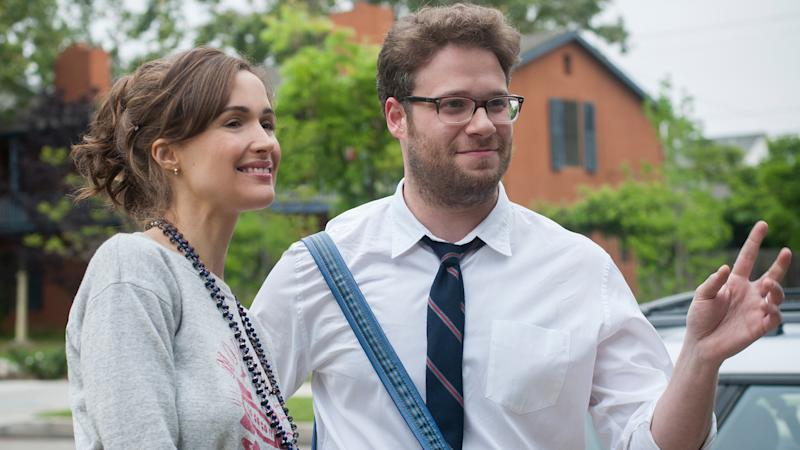 Rose Byrne and Seth Rogen in 'Neighbors'