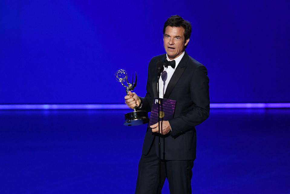 LOS ANGELES, CALIFORNIA - SEPTEMBER 22: Jason Bateman accepts the Outstanding Directing for a Drama Series award for 'Ozark' onstage during the 71st Emmy Awards at Microsoft Theater on September 22, 2019 in Los Angeles, California. (Photo by Kevin Winter/Getty Images)
