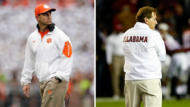 Clemson's Dabo Swinney will meet Alabama's Nick Saban in the playoff for the third straight season. (AP)