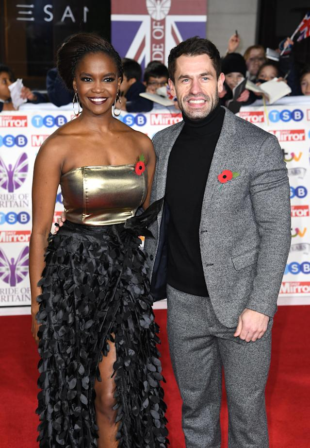 Oti Mabuse and Kelvin Fletcher at the 2019 Pride of Britain Awards (Doug Peters/EMPICS)