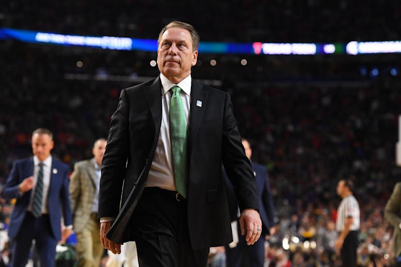 After giving his alma mater a tour of the Breslin Center in March, when they reached the state high school semifinals, Tom Izzo was hit with an NCAA violation.
