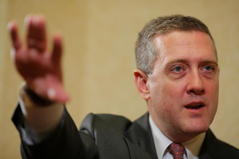 James Bullard, President of the St. Louis Federal Reserve Bank, speaks during an interview with Reuters in Boston, Massachusetts August 2, 2013.REUTERS/Brian Snyder (U