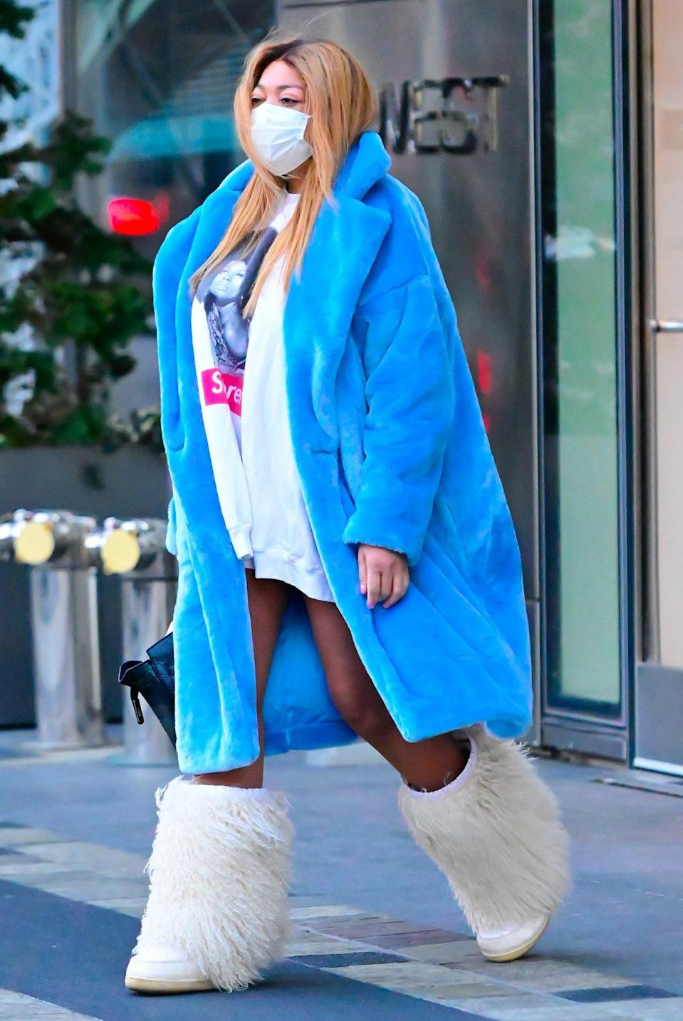 <p>Wendy Williams makes a fashion statement on Monday in New York City.</p>