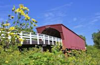 "<p>You might already know about Winterset — it was the inspiration for the setting of <a href=""http://www.traveliowa.com/aspx/dest.aspx?id=7054"" rel=""nofollow noopener"" target=""_blank"" data-ylk=""slk:The Bridges of Madison County"" class=""link rapid-noclick-resp"">The Bridges of Madison County</a>. In the town square, you'll find a circa-1876 limestone courthouse and 83 commercial buildings that were designated historic. It all makes for a great backdrop for the town's wine walks and <a href=""http://www.wintersetmadisonian.com/calendar/music/lawn-chair-night/event_922cbe86-2846-11e6-b12d-10604b9ffeb8.html"" rel=""nofollow noopener"" target=""_blank"" data-ylk=""slk:lawn chair nights"" class=""link rapid-noclick-resp"">lawn chair nights</a>. </p><p><a href=""https://www.housebeautiful.com/design-inspiration/celebrity-homes/g1924/meryl-streep-movie-homes/"" rel=""nofollow noopener"" target=""_blank"" data-ylk=""slk:The best houses from Meryl Streep movies »"" class=""link rapid-noclick-resp""><em>The best houses from Meryl Streep movies »</em></a></p>"