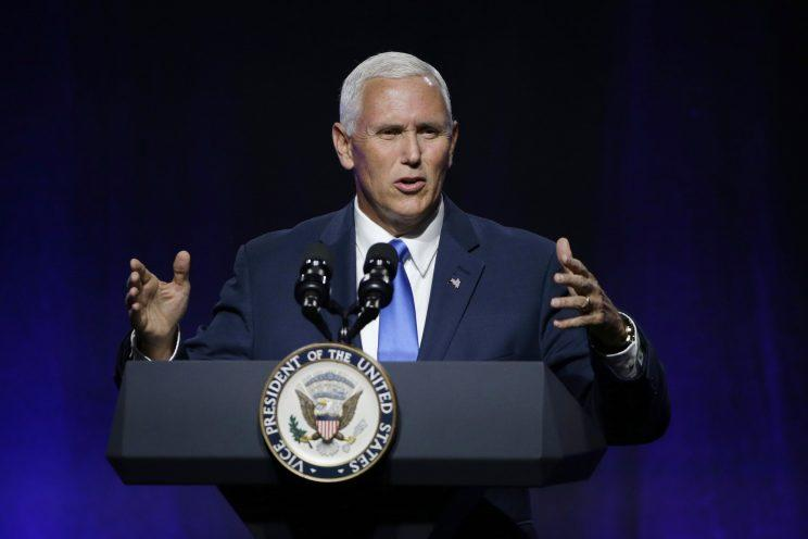 Vice President Mike Pence addresses a National Governors Association session titled