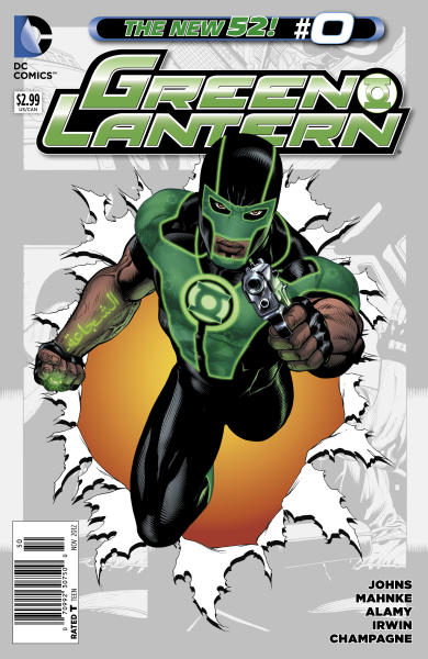 This image provided by DC Comics via Bender/Helper Impact shows the November 2012 cover of the latest Green Lantern series featuring the character Simon Baz, DC Comics most prominent Arab-American superhero and the first to wear a Green Lantern ring. The character and creator share Lebanese ancestry and hail from the Detroit area, which boasts one of the largest and oldest Arab communities in the United States. (AP Photo/DC Comics via Bender/Helper Impact)