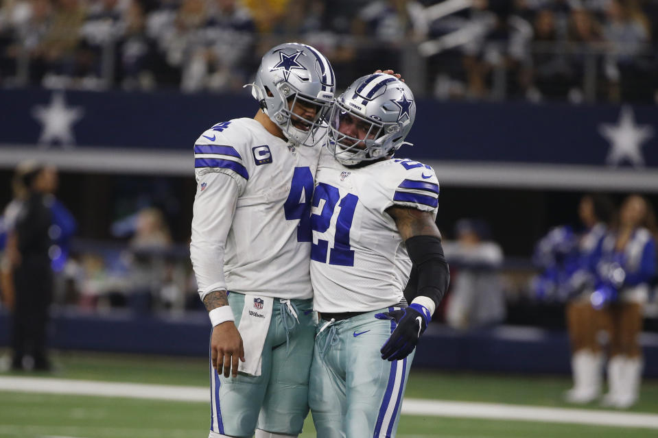 The Cowboys would be happy if Dak Prescott (4) and Ezekiel Elliott (21) stayed away from each other for a while.