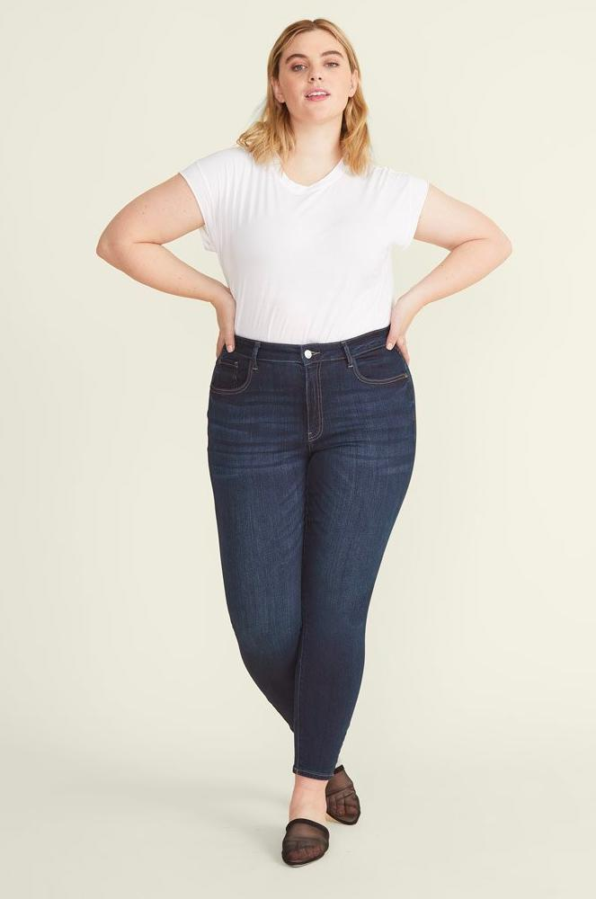 "Warp + Weft's JFK skinny jeans are affordable and high-quality. They're available in a ton of different washes, in both regular and plus sizes, and in a variety of lengths—which is perfect for me since I have a short inseam. <em>—</em><a href=""https://www.instagram.com/curvygirlchic/"" rel=""nofollow noopener"" target=""_blank"" data-ylk=""slk:Allison T."" class=""link rapid-noclick-resp""><em>Allison T.</em></a><em>, size 18/20, Orange County, Calif.</em> $98, Warp + Weft. <a href=""https://warpweftworld.com/collections/jfk-plus-skinny/products/jfk-plus-skinny-twilight"" rel=""nofollow noopener"" target=""_blank"" data-ylk=""slk:Get it now!"" class=""link rapid-noclick-resp"">Get it now!</a>"