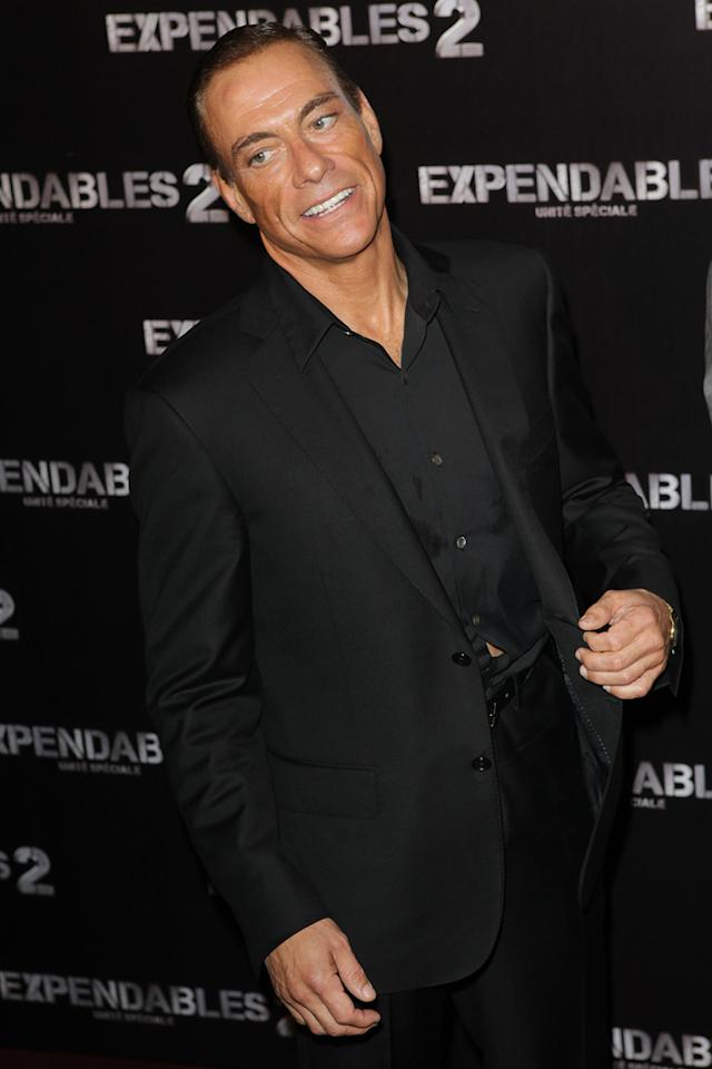 """Jean Claude Van Damme at the Paris premiere of """"The Expendables 2"""" on August 9, 2012."""