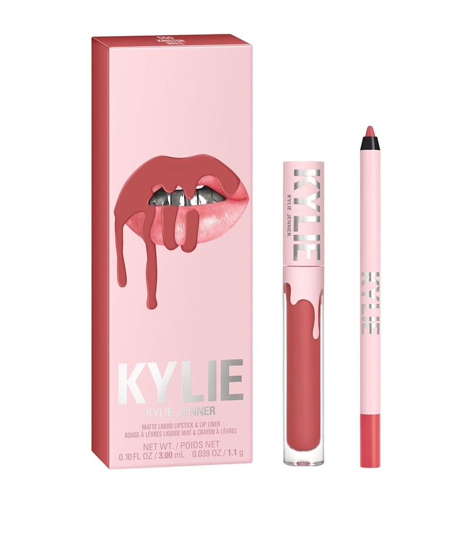 """<p><strong>Kylie Cosmetics</strong></p><p>ulta.com</p><p><strong>$29.00</strong></p><p><a href=""""https://go.redirectingat.com?id=74968X1596630&url=https%3A%2F%2Fwww.ulta.com%2Fp%2Fmatte-lip-kit-pimprod2026503&sref=https%3A%2F%2Fwww.cosmopolitan.com%2Fstyle-beauty%2Ffashion%2Fg8274845%2Fbest-gifts-teenage-girls%2F"""" rel=""""nofollow noopener"""" target=""""_blank"""" data-ylk=""""slk:Shop Now"""" class=""""link rapid-noclick-resp"""">Shop Now</a></p><p>A gal always needs a trustee lipstick on deck—and any shade in Kylie's lip kit collection won't disappoint.</p>"""
