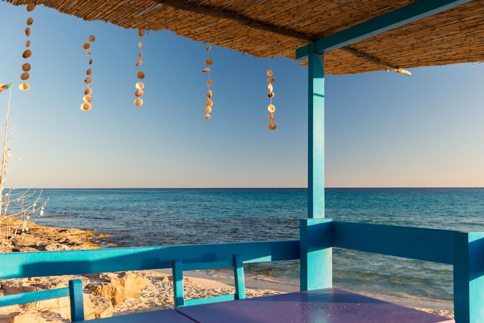 The perfect spot for sundowners in Formentera. (Getty Images)
