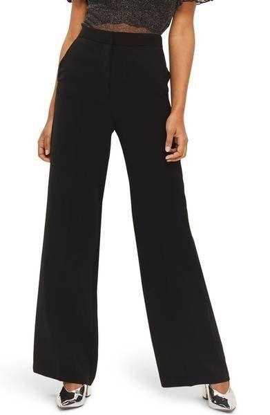 "Get them at <a href=""https://shop.nordstrom.com/s/topshop-high-waist-wide-leg-trousers/4831146?origin=keywordsearch-personalizedsort&fashioncolor=BLACK"" target=""_blank"">Nordstrom</a>, $95."