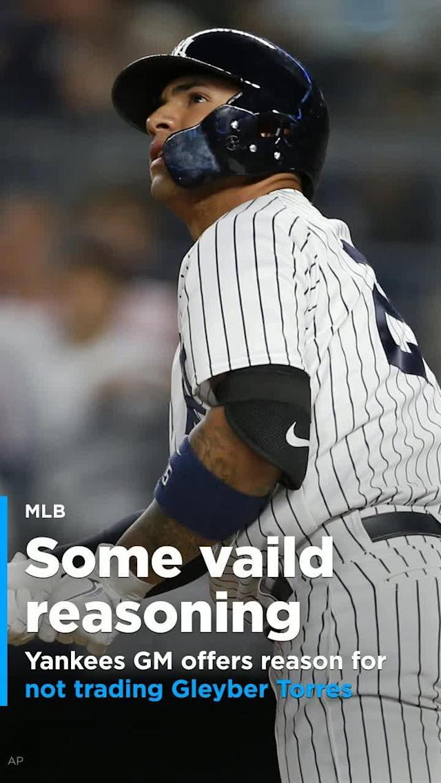 The New York Yankees are expected to be big players at the July 31 trade deadline, but that doesn't mean the team has any intention of parting with rookie sensation Gleyber Torres.
