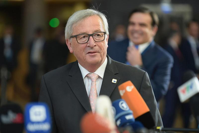 European Commission President Jean-Claude Juncker arrives to take part in the summit at the European Council headquarters (AFP/Getty Images)