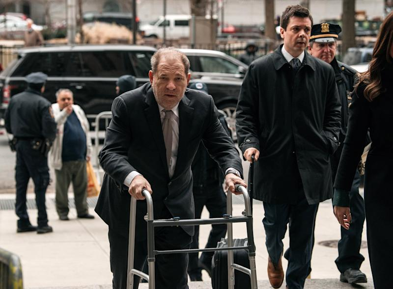 Harvey Weinstein entering New York City Criminal Court on Jan. 13. (Photo: Scott Heins/Getty Images)