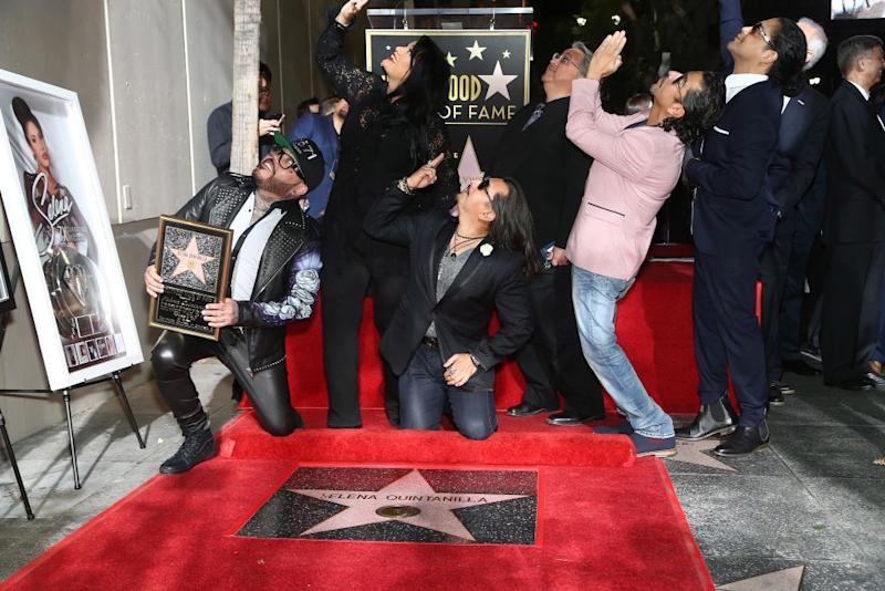 b2e4e9523 Selena Quintanilla received her Star on the Hollywood Walk of Fame, and fans  dressed to impress