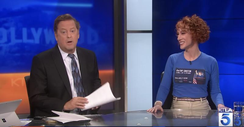 Sam Rubin's interview with Kathy Griffin takes an unexpected turn. (Photo: YouTube)